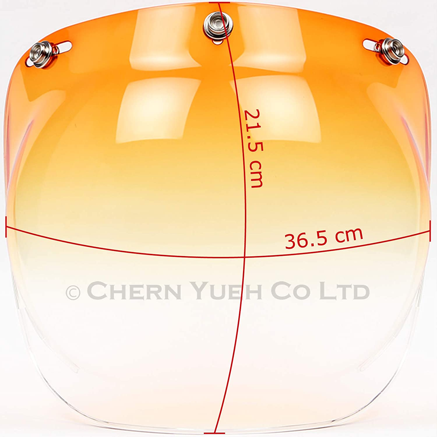 eaf10b2f Amazon.com: Motorcycle Helmet Bubble Shield with Flip Adapter for 3-Snap  Helmets (Orange Gradient): Automotive