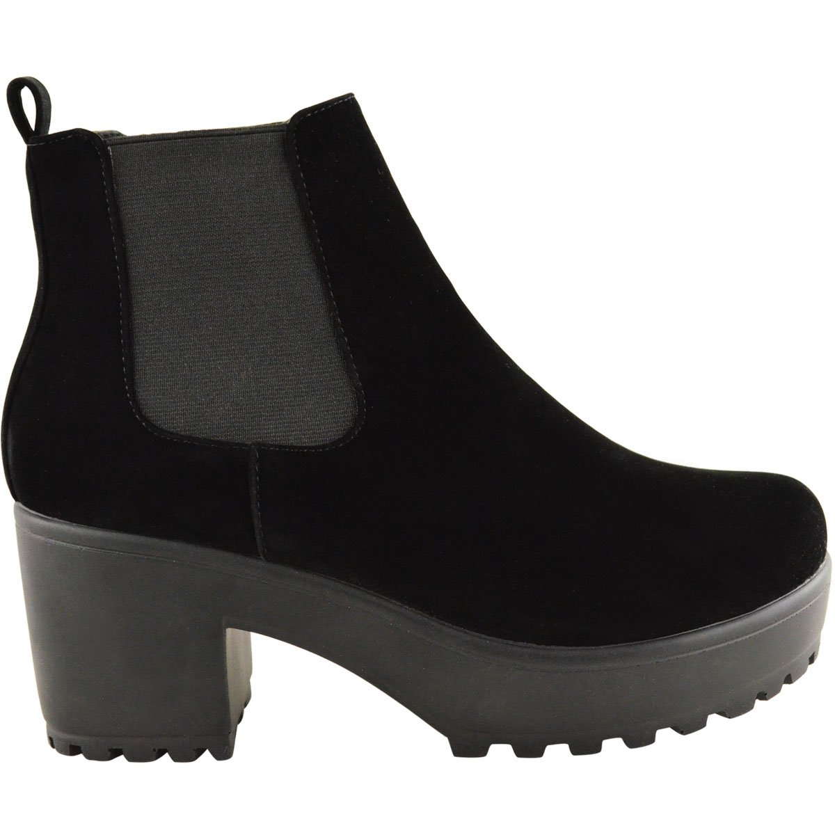 Amazon.com | Fashion Thirsty Womens Mid Heel Block Platform Biker