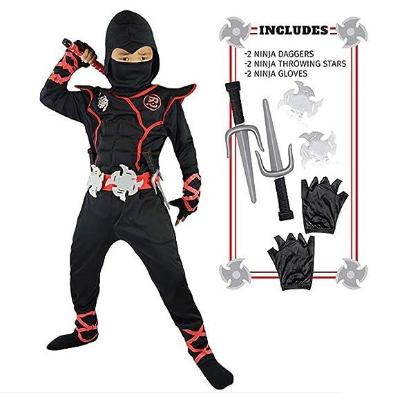 Ninja Turtle Costume Kids Deluxe Ninja Outfit Ninja Warrior ...