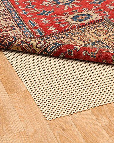 NaturalAreaRug Eco Hold Rug Pad Earth Friendly Provides Extra Cushion For All Hard Surfaces of size 9' x 12'. Heavier and Thicker than Most Rug Pads