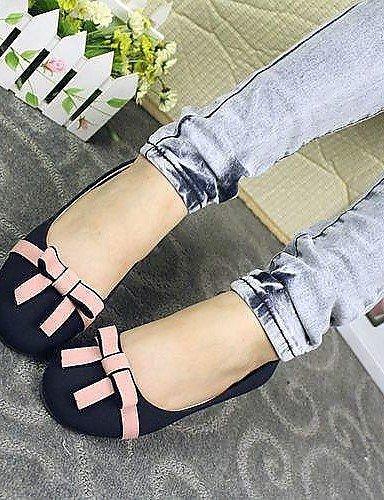 PDX/ Womens Shoes Round Toe Flat Heel Flats Shoes navy-us8 / eu39 / uk6 / cn39