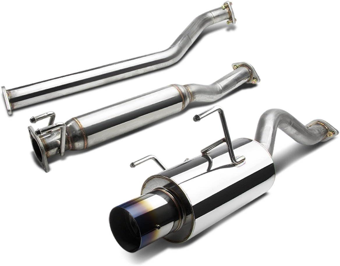 DNA Motoring CBE-ARSX-NS CBEARSXNS Stainless Steel Catback Exhaust System