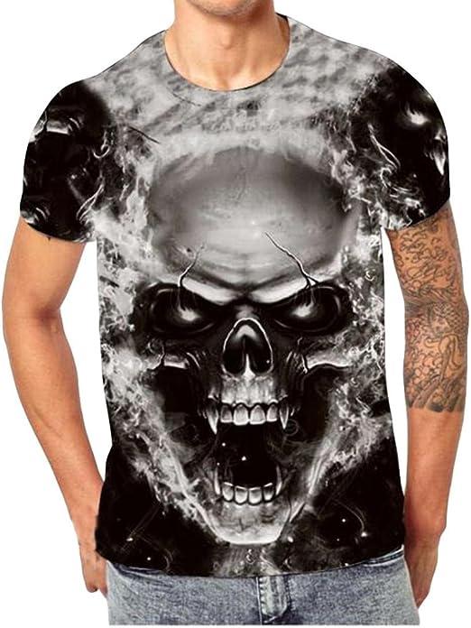 Camiseta para Hombre,RETUROM Camisa de Manga Corta de ...