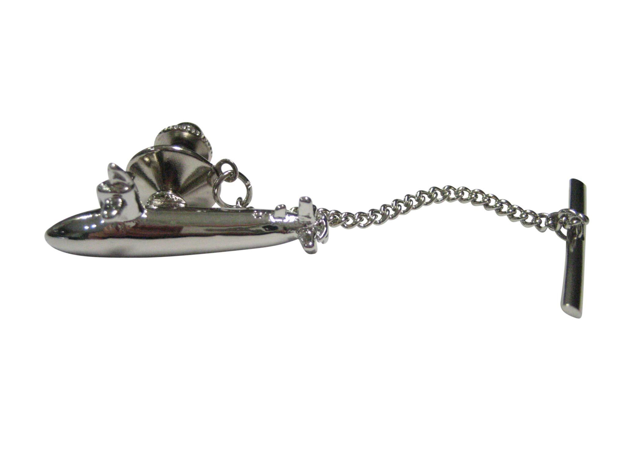 Kiola Designs Silver Toned Naval Navy Submarine Tie Tack by Kiola Designs (Image #1)