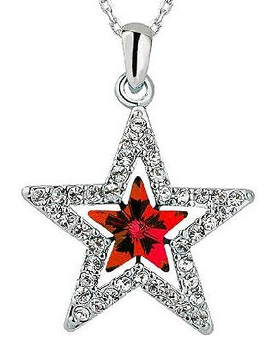 Lovelegis - Collar de Mujer - Estrella - Strass - Brillantes ...