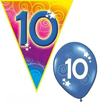 Set Kindergeburtstag Luftballons und Girlanden 8 Jahr