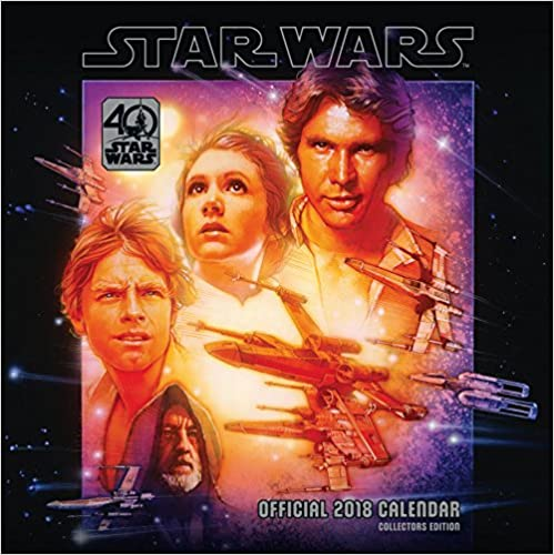 Square Wall Format Star Wars 40th Anniversary Official 2018 Calendar
