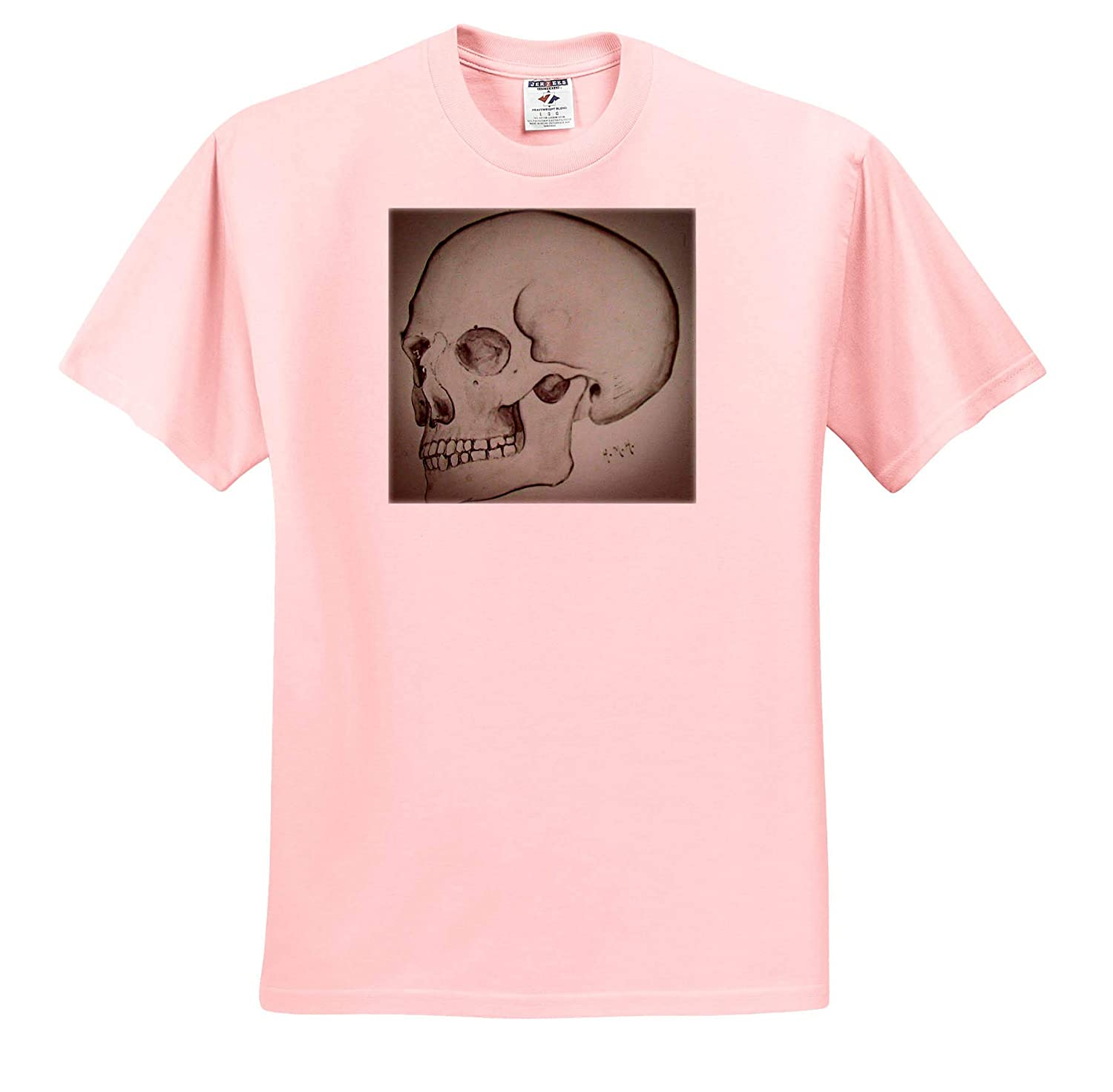1920s Medical School Teaching Slide of The Human Skull Vintage 3dRose Scenes from The Past Magic Lantern T-Shirts