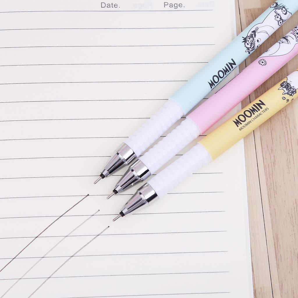 14.5 cm 3 bol/ígrafos de tinta borrable Kawaii de 0,38 mm Eliky color azul y negro color azul Pin length: approx