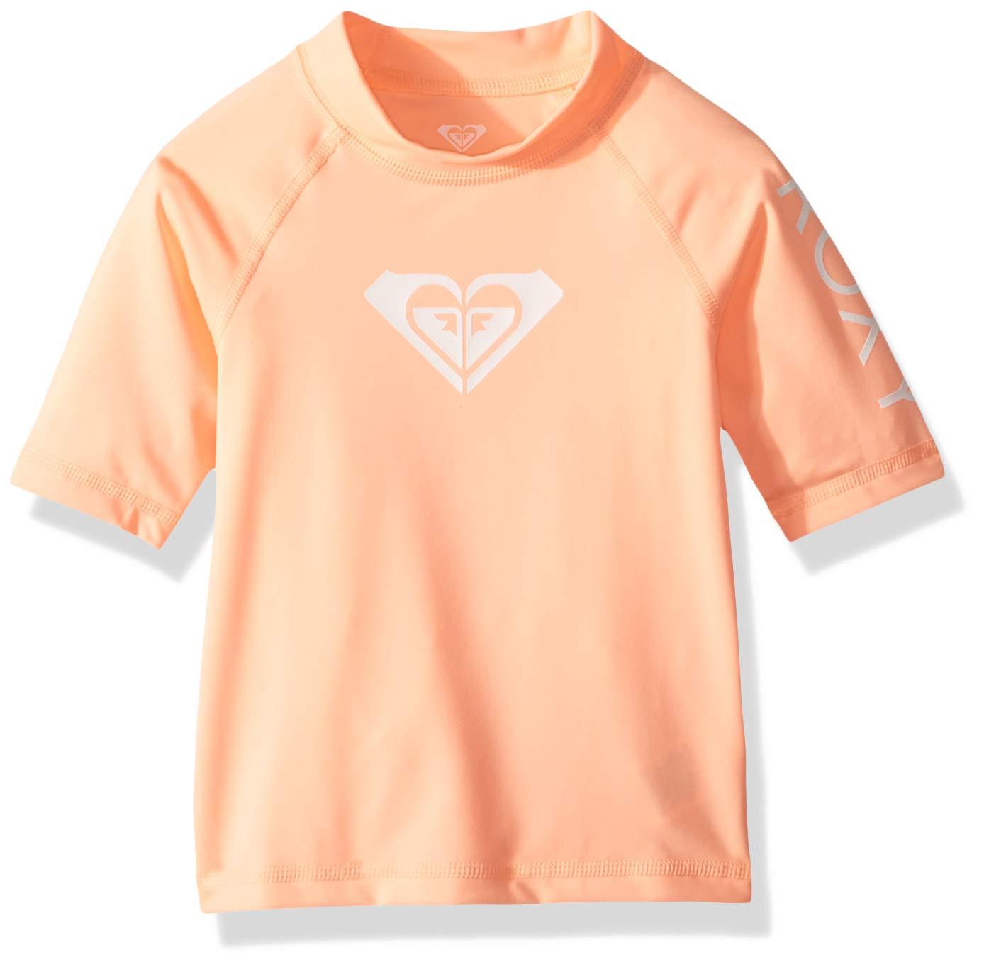 Roxy Toddler Girls' Whole Hearted Short Sleeve Rashguard, 2