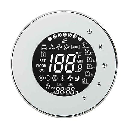 GOTTING WiFi Integral controlador de temperatura Aire acondicionado central 2 Tubería termostato programable con pantalla táctil