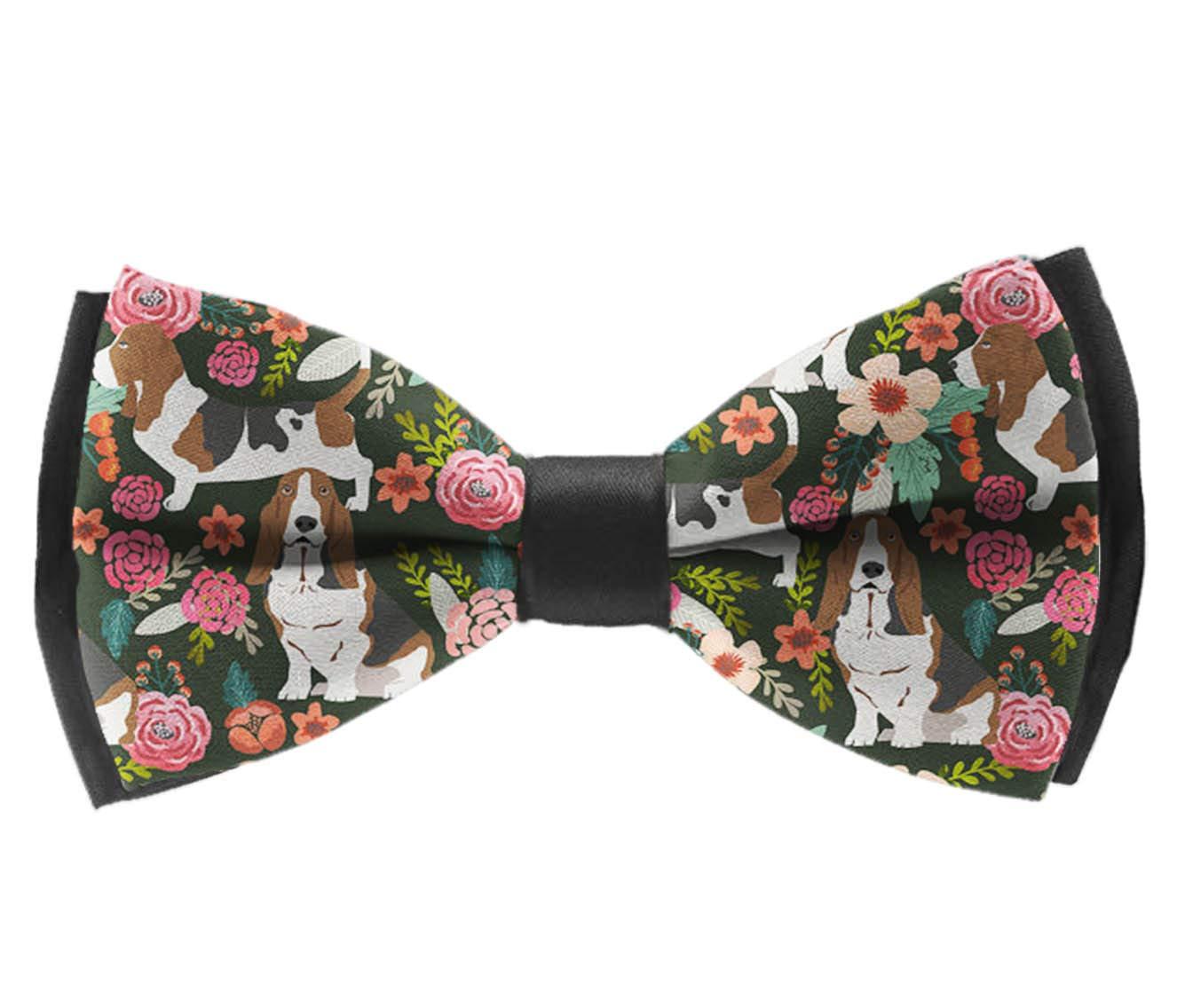 Basset Hound Dog Adjustable Bowtie INWANZI Fashion Elegant Pre-Tied Bow Tie for Men /& Boys