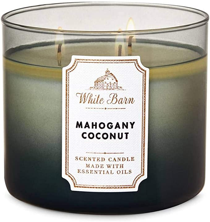 BATH /& BODY WORKS MANGO COCONUT SCENTED CANDLE 3 WICK 14.5 OZ LARGE FROSTED