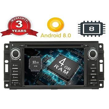 """henhaoro 6,2"""" Android Coche DVD estéreo para Jeep Dodge Chrysler GPS navegación Pantalla"""