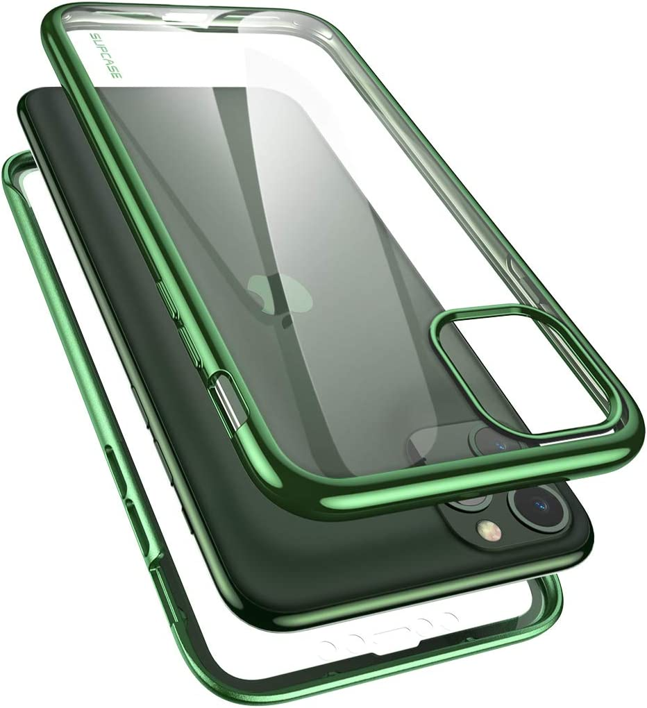 SUPCASE [Unicorn Beetle Electro Series] Designed for Apple iPhone 11 Pro Max 2019 6.5 inch Case, Metallic Electroplated Edges, Slim Full-Body Protective Case with Built-in Screen Protector (Green)