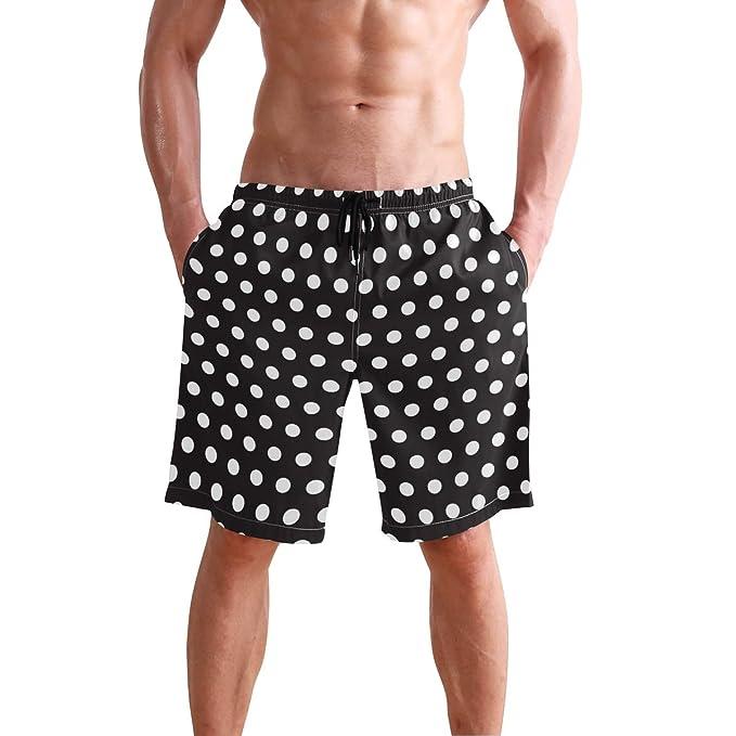 Amazon.com: WIHVE Bañador para hombre con bolsillo y forro ...