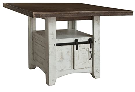 Amazon Anton Square Counter Height Barn Door Dining Table Tables