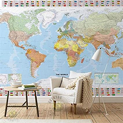 Map Of Asia 3d.Amazon Com Mznm 3d Room Wallpaper Custom Murals Non Woven Wall