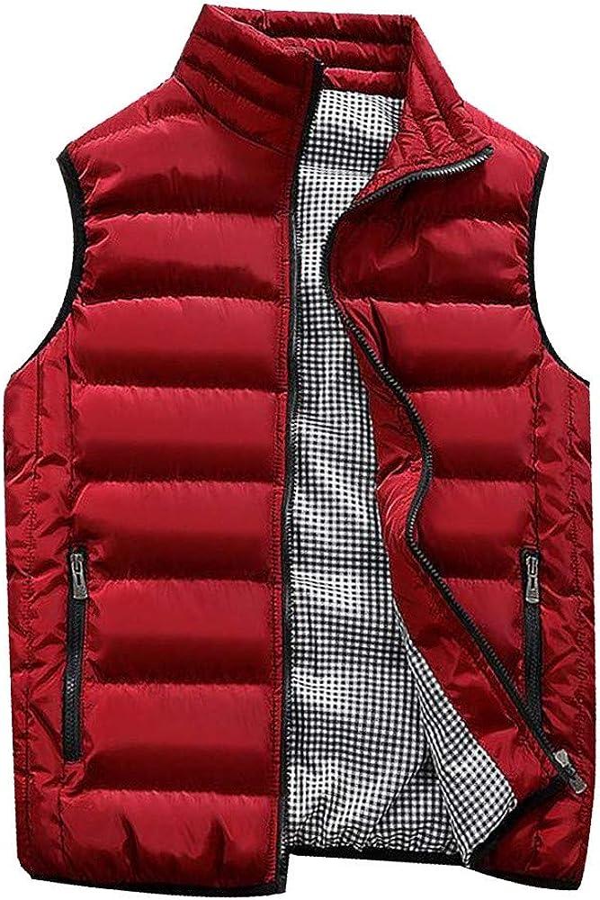 Abrigos de Hombre,Dragon868 Otoño Invierno Hombres Chicos Acolchado de algodón Chaleco Caliente con Capucha Chaleco Grueso Abrigo