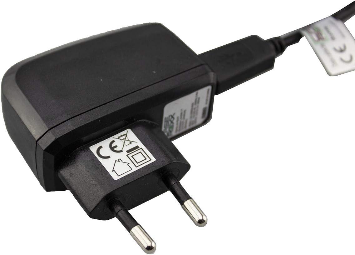 Cargador/Adaptador de Carga + Cable para Geotel A1, Cargador Fuente de alimentación para Cargar el móvil (Cable Flexible y Estable en Negro): Amazon.es: Electrónica