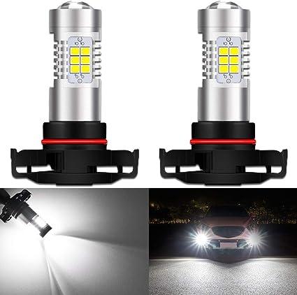 2X 80W Super White High power LED 5202 Fog Driving Light Bulb 5201 H16 PS24W
