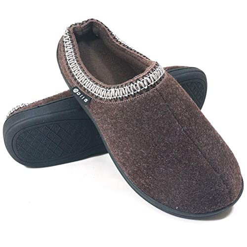 1bc46886c6fc6 diig Soft Warm Slippers for Men - Non-Slip Memory Foam Comfy House Shoes
