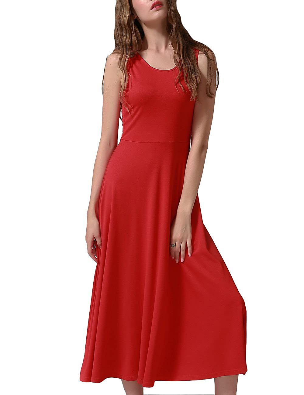 398485342f A Line Skater Dress ,Gifts for Women.(DO NOT WASH THE RED DRESS WITH LIGHT  COLORED CLOTHES!!!) Machine washable, iron with low temperature if necessary