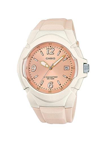 Casio Reloj Analógico para Mujer de Cuarzo con Correa en Acero Inoxidable LX-610-4AVEF: Amazon.es: Relojes