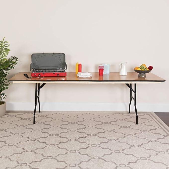 Flash Furniture 30x96 Wood Fold Table Black Furniture Decor