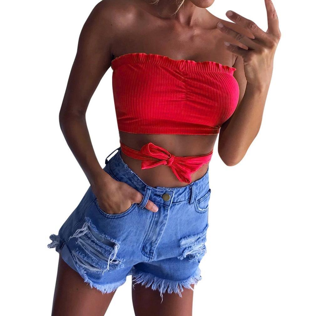 Clearance JYC 2018 Women's Ladies Bandge Elastic Boob Bandeau Tube Tops Bra Lingerie Breast Wrap Bra Shaper Vest Breast Support Dirndl Oktoberfest (Black, Small)