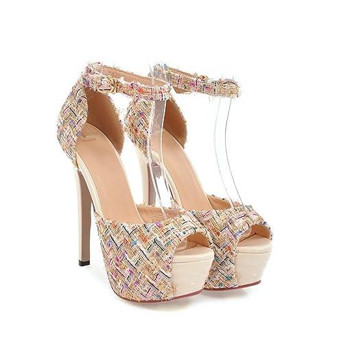 Aguja Zapatos De Al amp;s Tacones Mujer Mei Tobillo Sandalias vTZxqUz