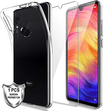 LK Funda para Xiaomi Redmi Note 7,Carcasa Cubierta Caucho Suave ...