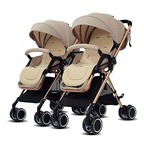 Amazon.com: Cochecito de bebé doble, portátil, plegable ...