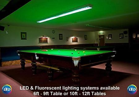 Mesa de Billar Profesional, piscina, LED/iluminación fluorescente, 4FT Fluorescent 6000k: Amazon.es: Hogar