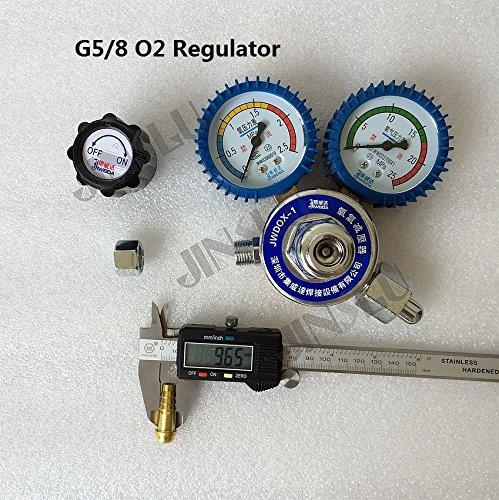 G5/8 O2 Oxygen Gas Regulator Reduced Pressure Gauge