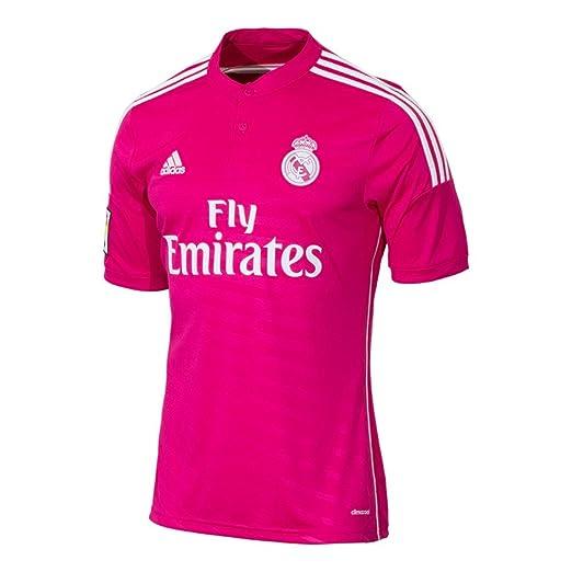 84b45c92 Amazon.com: adidas Real Madrid Away Mens Soccer Jersey 14/15 Pink ...