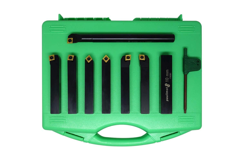 7-teilig mit Bohrstange PAULIMOT Drehstahl-Set mit Wendeplatten 16 mm