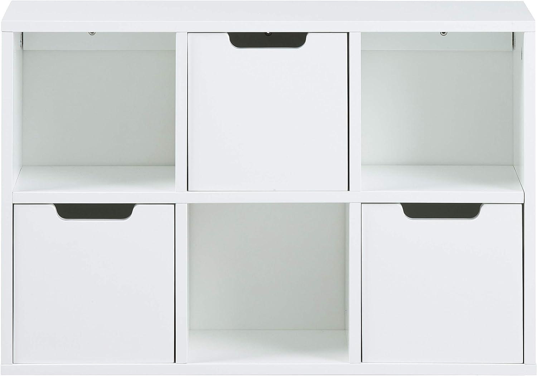 AC Design Furniture Nachttisch Mariela Weiss B: 40 x T:30 x H: 61,5 cm MDF