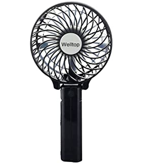 electric hand fan. welltop® rechargeable fans handheld mini fan battery operated electric personal with foldable hand s