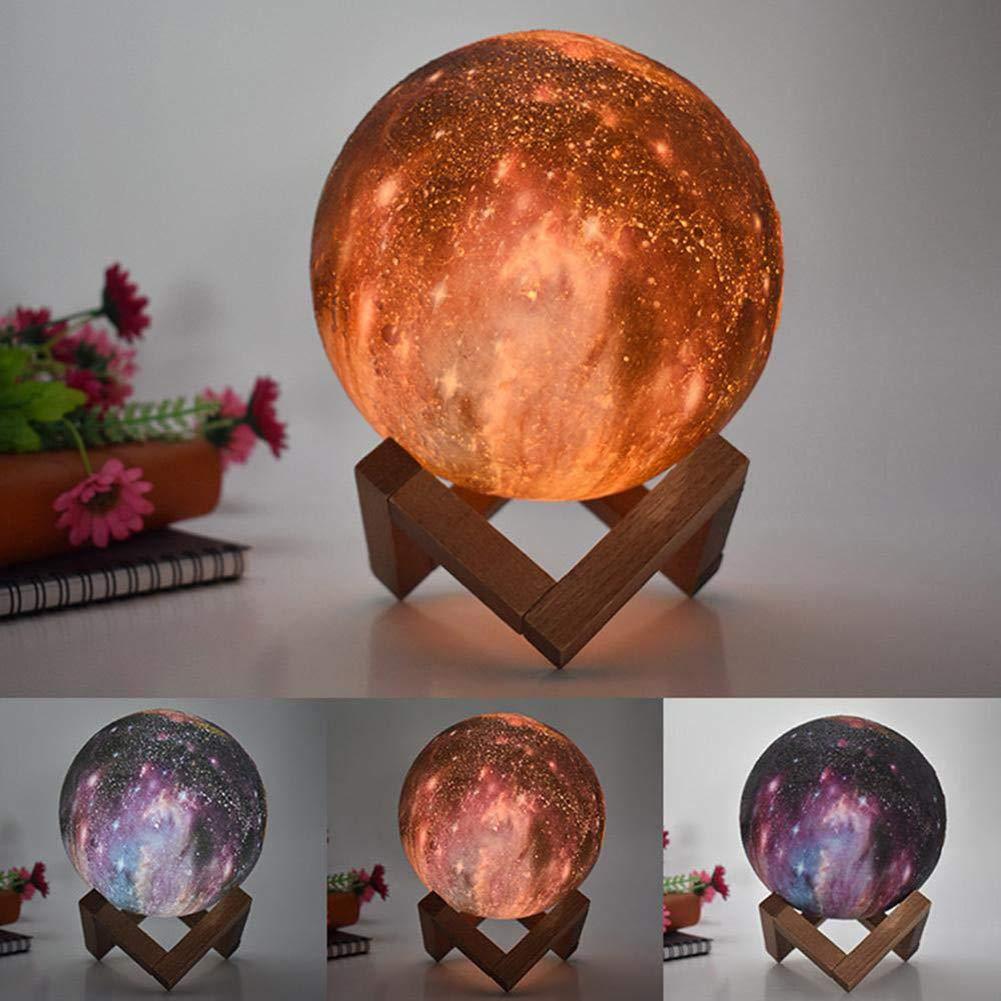 TISESIT LIGHT Mondlampe Mondlichtlampen f/ür Kinderliebhaber Geburtstagsgeschenke zum Vatertag 16 Farben LED 3D Print Mondlicht mit Standfu/ß /& Fernbedienung /& Touch Control und wiederaufladbarem USB