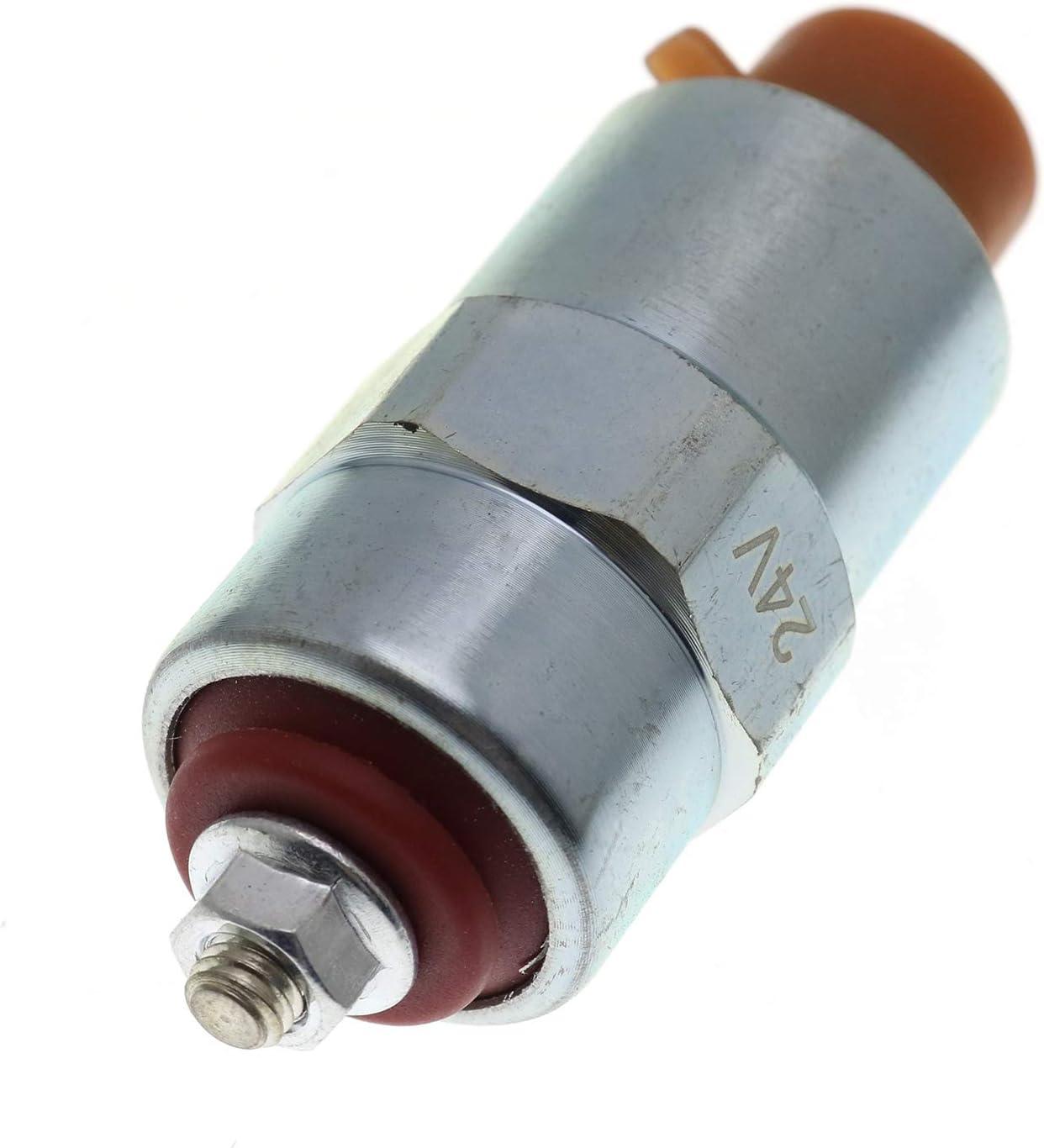 24 VOLT CAV REPLACEMENT STOP SHUTDOWN SOLENOID 7185-900K 7180-49a 080211