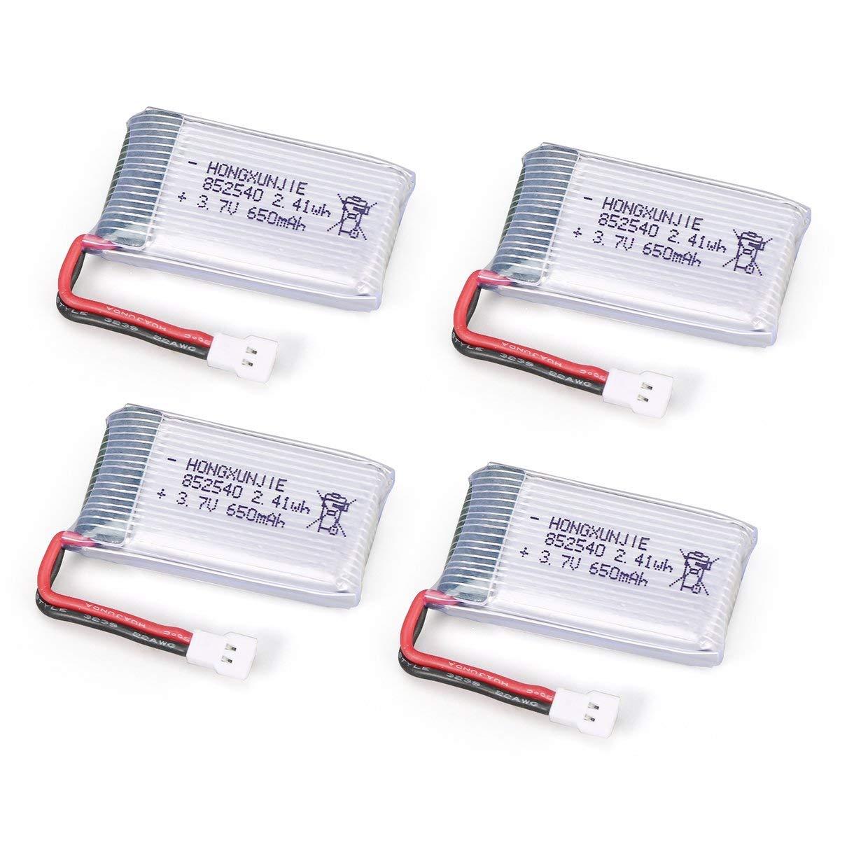 4 Unids 3.7 V 650 mAh Bater/ía 4 en 1 Cargador USB para Syma X5 X5C X5SC X5SW MJX X705C RC Drone Quadcopter Piezas de Bater/ía de Repuesto