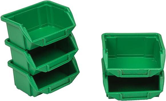 60 apilables Cajas de almacenamiento de polipropileno 90 x 110 x 50 Gr.{0} verde: Amazon.es: Bricolaje y herramientas