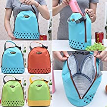 K&C Outdoor Travel Picnic Lunch Box Bag Tote with Zipper