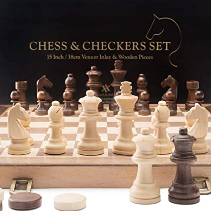 CHECK IT BARGAIN! 3 COLOUR RULES INCLUDED 3 THREE PLAYERS WOODEN CHESS SET