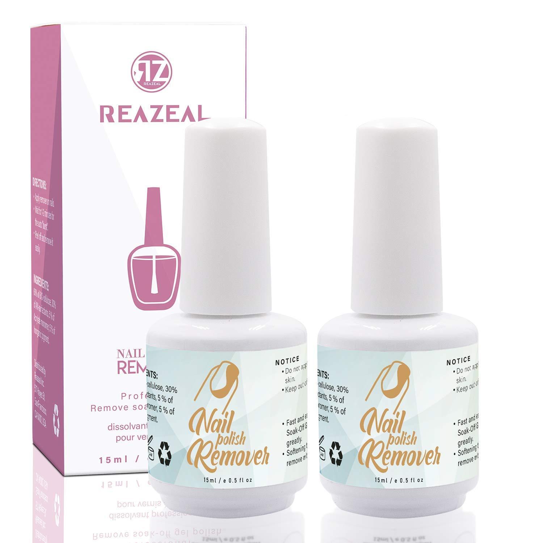 Reazeal 2pcs Magic Nail Polish Remover, Removes Soak-Off Gel Nail Polish, Easily & Quickly, Professional Non-Irritating Nail Polish Remover : Beauty
