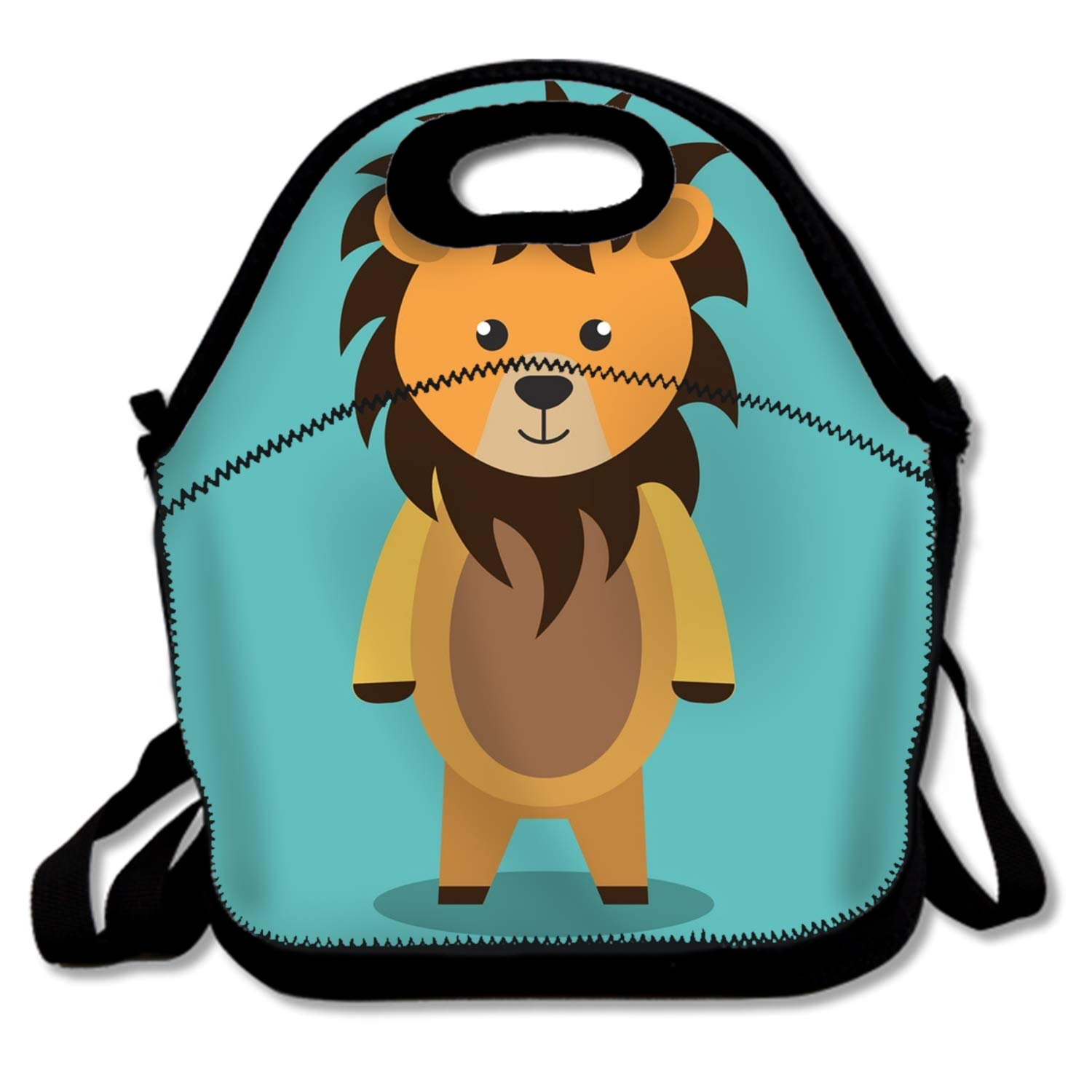 Cute Lunch Bag/Lunch Box/Lunch Tote/Picnic Bags Insulated Cooler Travel Organizer Cute Lion Isolated Icon Design