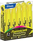 Fluorescent Highlighters - Yellow - 12 Count 72 pcs sku# 1892811MA