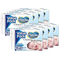 MamyPoko Baby Wipes Regular, Case, 8 PACK, 80 PCS x 2