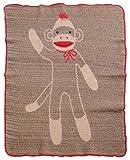 Green 3 Throw Blanket, Sock Monkey